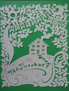 by Dawn Colpitts, Family Tree papercut by DawningDesigns on Etsy, $40.00