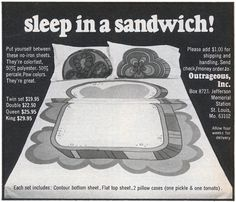 Perfect Xmas present.  Sleep in a sandwich! With 2 pillow cases, 1 pickle & 1 tomato!