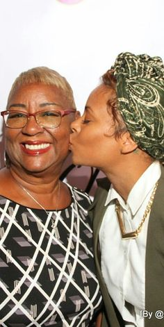 Eva Marcille with her mother.