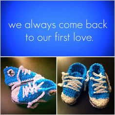 Crocheted Baby Converse by LooplaCrochet on Etsy