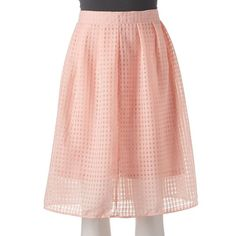 Women's Double Click Gingham Midi Skirt ($25) ❤ liked on Polyvore featuring skirts, pink, gingham skirt, gingham midi skirt, pink skirt, red midi skirt and patterned midi skirt