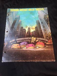 Vintage 1990 Teenage Mutant Ninja Turtles Folder   | eBay