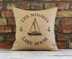 Hey, I found this really awesome Etsy listing at https://www.etsy.com/listing/224561793/burlap-pillow-personalized-pillow-lake
