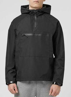 Black Technical Overhead Jacket