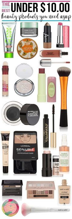 The Best Beauty Products Under $10 You Need Right Now - Hairspray and Highheels http://www.hairsprayandhighheels.net/2017/03/best-beauty-products-10-need-right-now/