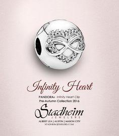 Pandora Infinity Heart Clip - Pre-Autumn Collection 2016