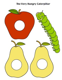 It's The Very Hungry Caterpillar game! you can make the caterpillar the butterfly! Cut the circle and play with it!!!