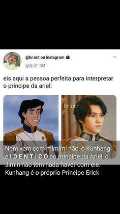 Hendery é idêntico ao príncipe da Ariel s Nct, Jimin, Ariel, Instagram, Movies, Movie Posters, Princesses, Films, Film Poster