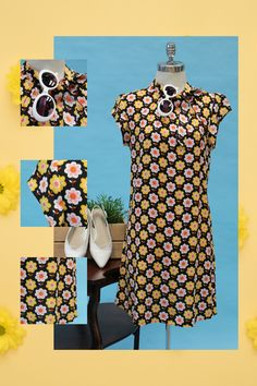 €65.00 🌸🌼 Flower Power 🌸🌼 One of the many outfits we're planning on wearing as we step into a world of less restrictions... 🚶♀️🚶♀️🚶♀️ Vintage Inspired Dresses, Vintage Style Outfits, Vintage Dresses, Vintage Fashion, Good Earth India, Irish Design, Made Clothing, Twiggy, Flower Dresses