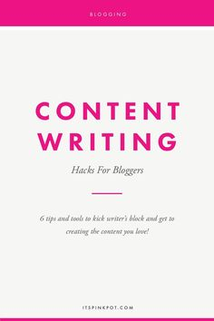 Obsessed with Chaitra's website redesign...AND she has fantastic blogs?! Check out her tips on #contentwriting and 6 hacks for bloggers: #ContentWritingtips