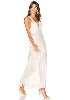 3aeb5022ca58 MAJORELLE Brook Maxi Dress in Biscuit | REVOLVE Silk Satin Dress, Satin  Dresses, Endless
