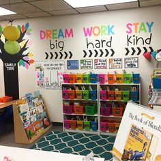 How cute is Melanie's classroom library? Perfect to cozy up with a good pic… – Zoe How cute is Melanie's classroom library? Perfect to cozy up with a good pic… How cute is Melanie's classroom library? Perfect to cozy up with a good picture book! Classroom Quotes, Classroom Walls, Classroom Bulletin Boards, New Classroom, Classroom Design, Classroom Wall Decor, Classroom Ideas For Teachers, Year 1 Classroom Layout, Classroom Setting