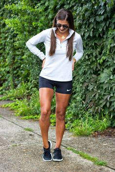 A Southern Drawl: Fitness Ready Running Fashion, Sport Fashion, Fitness Fashion, Running Style, Sport Outfits, Cute Outfits, Running Outfits, Gym Outfits, Fitness Outfits