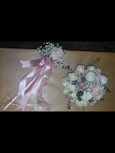 My bouquet and daughters flowergirl wand