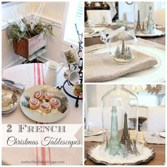 @mowinkler3 Two French Christmas Tablescapes - A Christmas morning buffet and Christmas dinner