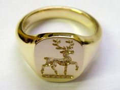 Seal  engraved gold signet ring Hi Wholesale prices for Gold Signet Rins at http://etsy.me/1RNyLFP