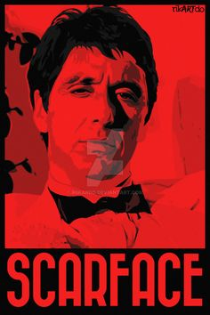 Gangster Flick is a site dedicated to exploring the gangster movie genre including Goodfellas (Scorsese) The Godfather (Coppola) Pulp Fiction (Tarantino) Scarface Poster, Scarface Movie, Mafia Gangster, Gangster Movies, Michelle Pfeiffer, Movie Poster Art, Film Posters, Montana, Hollywood Poster