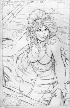 Cover pencils to the first ever Grimm Fairy Tales: Swimsuit issue to out later this year. Let me just say this; water is a bitch to draw without color, man. This one is Belinda (cover B) and of cou...