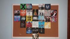 Band art! Printed 3 by 3s of band albums and ta-da