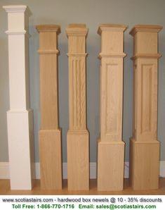 Best 55 Recessed Flush Panel Box Newel Post Primed By 400 x 300