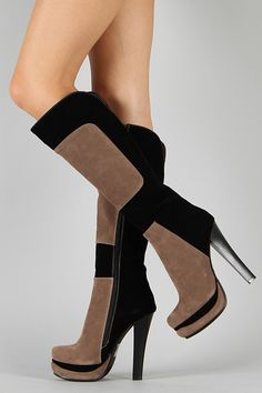 Courtney Tow Tone Knee High Boot $50.90