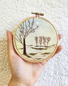 ❄🌳❄ . . . . . . . . . . . . . #trees #arbres #aquarelle #watercolor #watercolorart #foret #forest #nature #overwork #hoopembroidery #hoopart #draw #dessin #handembroidery #embroidery #embroideryart #broderie #broderiemain #handmade #faitmain #brodeuse #embroidered #bordado #madeinfrance #delphil #tatoueusedetissu© #modernembroidery #contemporaryembroidery #embroideryinstaguild #embroiderylove