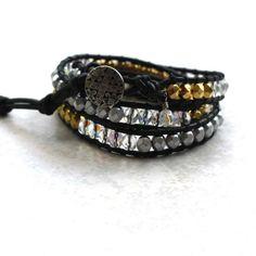 Limefreckle: Leather wrap bracelets