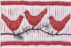 Birds of a Feather - Ann Hallay Designs - gingham & counterchange smocking
