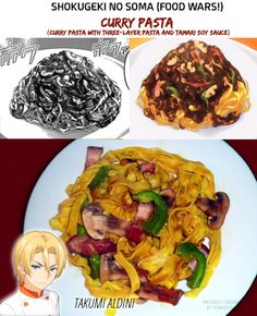 Shokugeki no Soma (Food Wars!) | Curry Pasta (Takumi Aldini ver.) | Manga/Anime/Real Life | (c) to their respective owners ||| Real-life recipe from Ah Nouille's YouTube Channel https://www.youtube.com/channel/UC2jpqEy9JCUf3GvUTVv9zHw