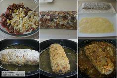 Rollo de bonito al estilo asturiano Grains, Chips, Rice, Chicken, Meat, Cooking, Food, Tomato Sauce, Fish Recipes