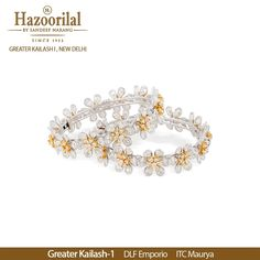 A meticulously crafted floral pair of bangles with fancy shapes of diamonds. #HazoorilalBySandeepNarang #Diamonds #FancyCuts #FloralJewellery #DiamondBangles #Pears #Rounds #Ovals #RoseCuts #FineJewellery #HighJewellery #JewelleryLovers #JewelleryTrendsetters #Since1952 #DlfEmporio #ITCMaurya #GK-1 #HazoorilalJewellers #Hazoorilal