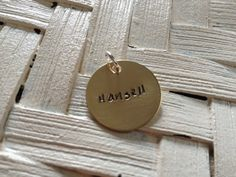 """3/4"""" Personalized Charm-  personalized charms, brass charm, copper charm, bracelet charm, Hand stamped personalized charm, perfect gift on Etsy, $7.00"""