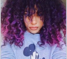 Fulfill Your Purple Dreams with These 50 Purple Ombre Hair Ideas - My New Hairstyles Curly Purple Hair, Big Hair, Ombre Hair, Purple Natural Hair, Natural Baby, Purple Ombre, Hair Color Purple, Purple Tips, Purple Hair Black Girl