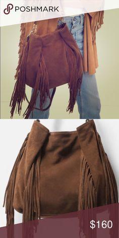 Brown suede fringe crossbody. Brown suede fringe crossbody.  Has shoulder strap as well.  Brand new. Zara Bags Crossbody Bags