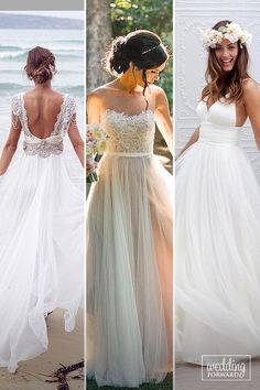 24 Beach Wedding Dresses Of Your Dream ❤️ Beach wedding dresses are gorgeous! See more: http://www.weddingforward.com/beach-wedding-dresses/ #wedding #dresses