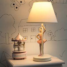 lampe en rsine et abat jour en tissu blanche h 40 cm danseuse maisons - Maison Du Monde Ballerina