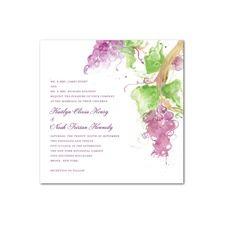 Vineyard Splash Wedding Cards