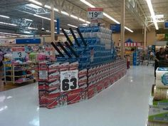 supermarket soda can displays are works of art : theCHIVE