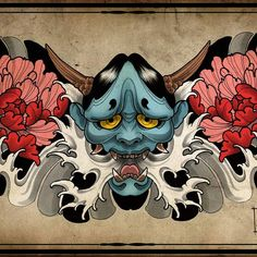 #tattoodesign #traditionaljapanesetattoo #japanesetattoo #hannya #hannyamask #hannyatattoo #melbournetattoo #amsterdamtattoo