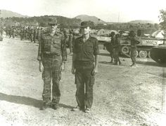 Soviet officers pose in front of an Angolan Air Defense unit at the training Center in Lubango, Angola. The Angolan soldiers are graduating from their training in the use of The Strela 10 Surface-To-Air Missiles. Super Images, Soviet Army, Training Center, Cold War, Homeland, Cuba, Wwii, South Africa, African