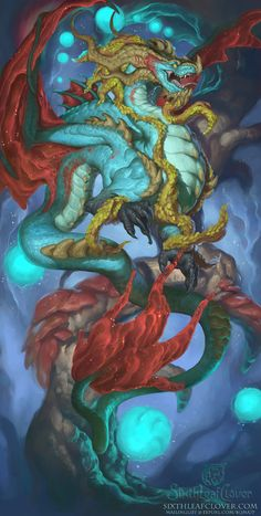 2016 Zodiac Dragons Capricorn, Christina Yen on ArtStation at https://www.artstation.com/artwork/VLYq8