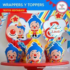 Plim Plim: wrappers y toppers para cupcakes