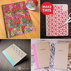 diytutorialslizzy.blogspot.com: Back to school - DIY notebooks