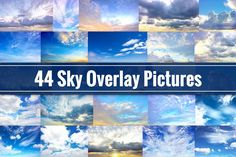 nice Sky Overlays - 44 Cloud Pictures  CreativeWork247 - Fonts, Graphics, T...