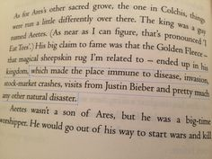 I read that part the other day I showed like all my friends FYI this is from a Percy Jackson book