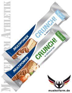 Der Multipower Crunch Riegel liefert hochwertiges Milcheiweiß und ca. 62 % Kohlenhydrate.