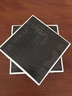 Star wars coasters black coasters ceramic tile by KCstylejewelry