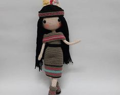 Crochet doll pattern / Amigurumi doll pattern - ADREA