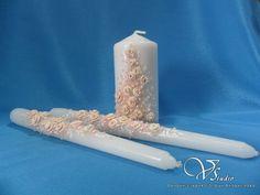 Семейный очаг ручной работы для бело-розовой свадьбы. #wedding #candles #wite #pink #hande-made