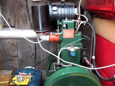 listeroid generator running my home on oil from plastic. - YouTube